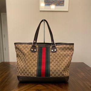 Gucci GG logo printed Large Shoulder Bag Tote